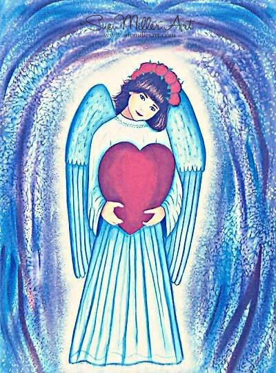 The Heart of an Angel Print