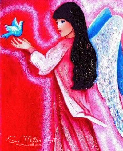 Hot Pink Angel Print