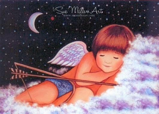 Cupid Sleeping Print