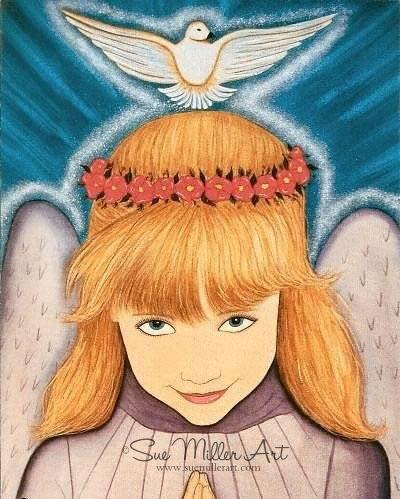 Praying Angel Print