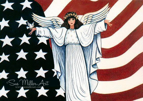 The Angel of the Stars and Stripes Print