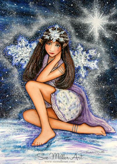 Snow Queen Elf Print