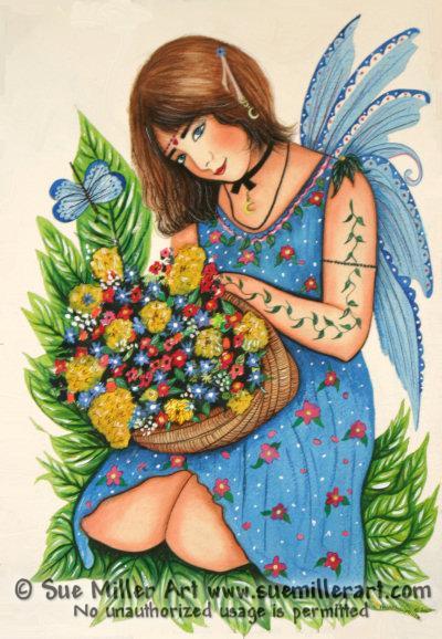 Blue Fairy Print