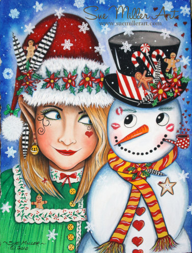 Candy Cane Kisses Print