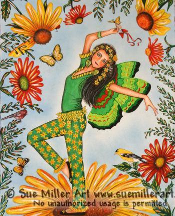 Flower Dancing Print