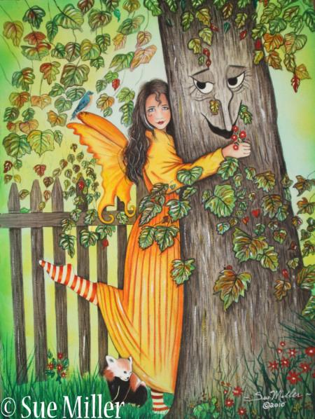 Hug A Tree Print