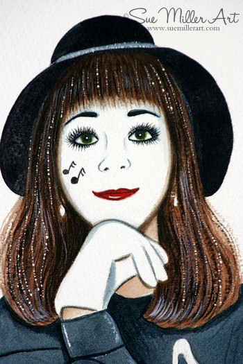 Mime Self portrait Print