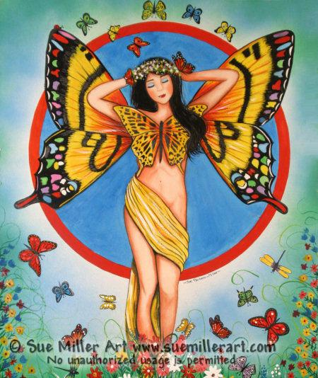 Princess Butterfly Original Painting