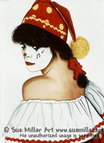 Portrait of a Clown's Beauty Print