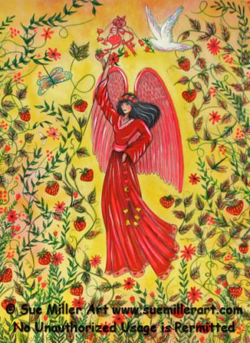 Strawberry Angel Print
