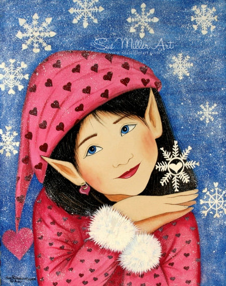 Snow Flake Elf Print