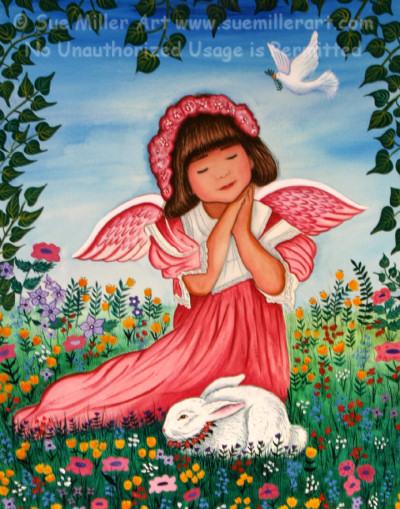 Spring Bless Angel Print