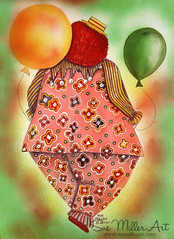 The Balloon Clown Print