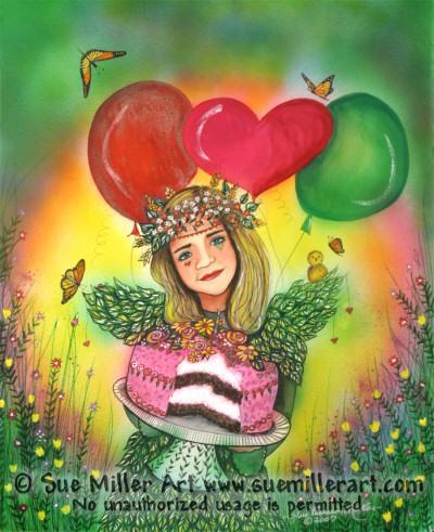 The Birthday Fairy Print
