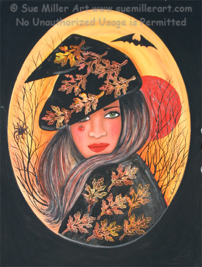 The Spider Witch Print