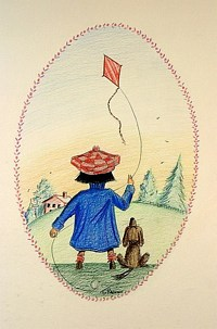 Oliver With Kite