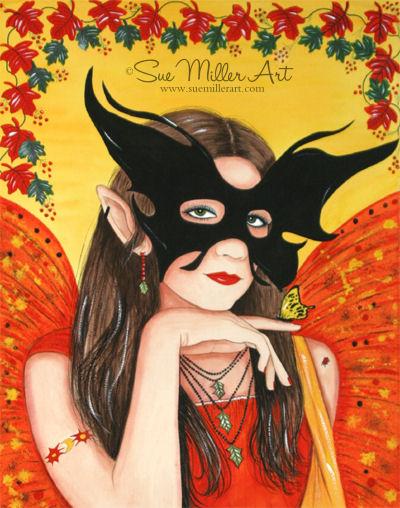 Season of the Mask Print