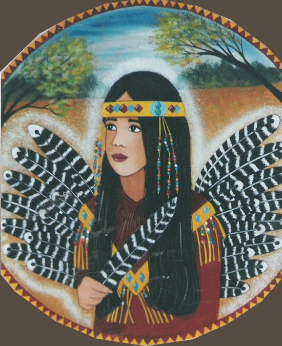 Native American Girl Angel 2 Print