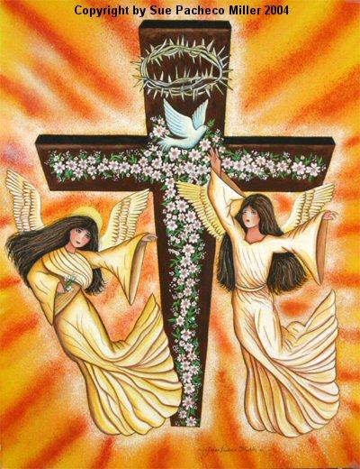 Angels at the Cross Print