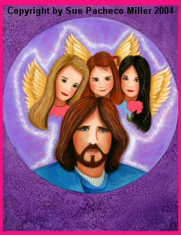 Jesus and His Angels Print