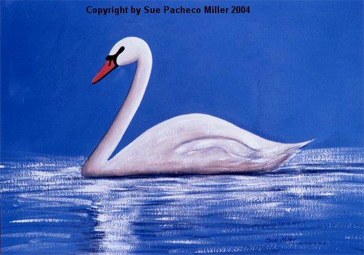 Basking Swan Print
