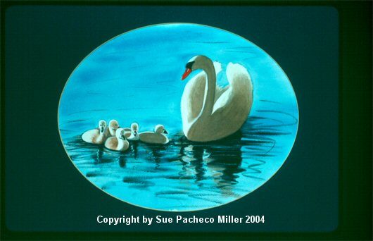 Mother and Cygnets 2 Print