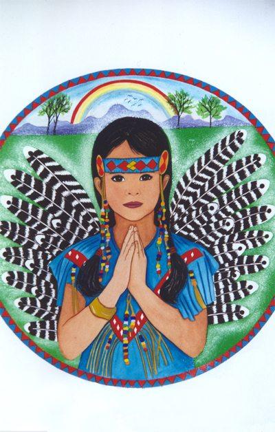 Native American Girl Angel Print