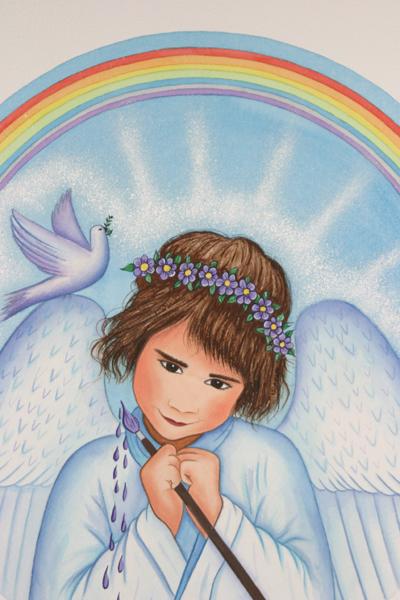 Artist Angel  Print